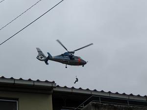 広島県警のヘリコプター